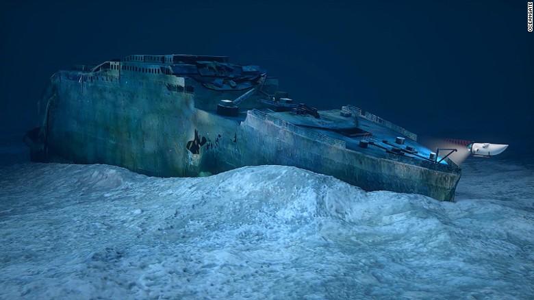 英国旅行社计划明年推出富豪旅游行程,潜水探索铁达尼号遗骸。(图/撷自CNN新闻网)