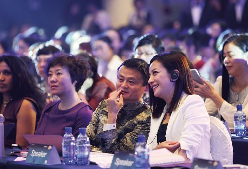 2015年5月20日,杭州,阿里巴巴集团筹办的首届全球女性大会。图/CFP