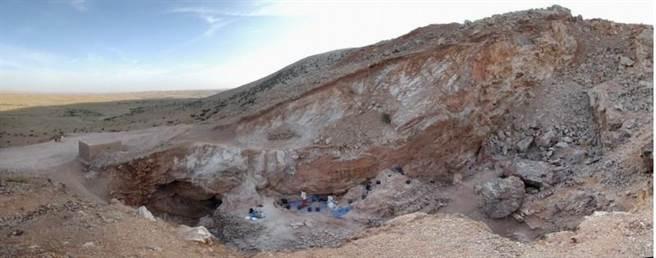 摩洛哥的考古遗址Jebel Irhoud在2009年的模样。(美联社)