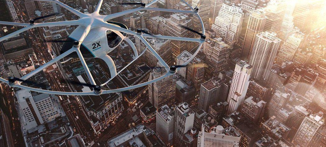 飞天计程车不是梦,杜拜今年年底可望试营运这款与德国公司合作的新款「计程机」。(图/取自VOLCOPTER官网)